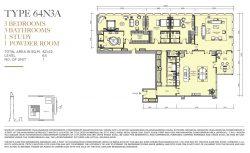 Mahanakhon-sky-residence-3br-for-sale-64n3a-unit-plan